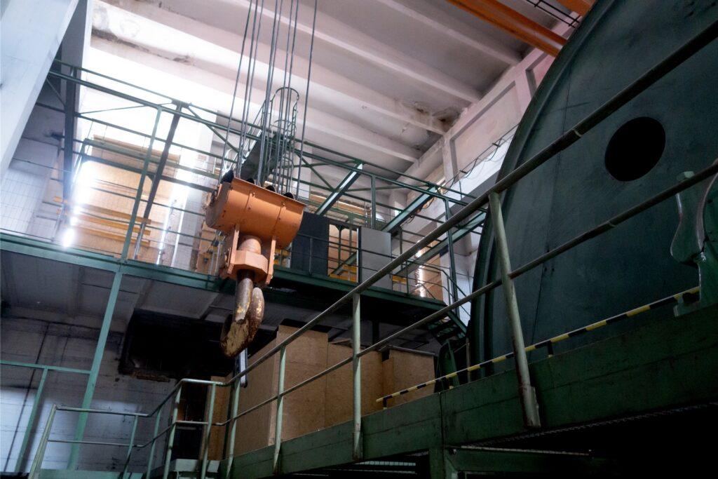 So sieht es derzeit in der Maschinenhalle von Schacht 2 aus. Hier soll das Lokal entstehen.