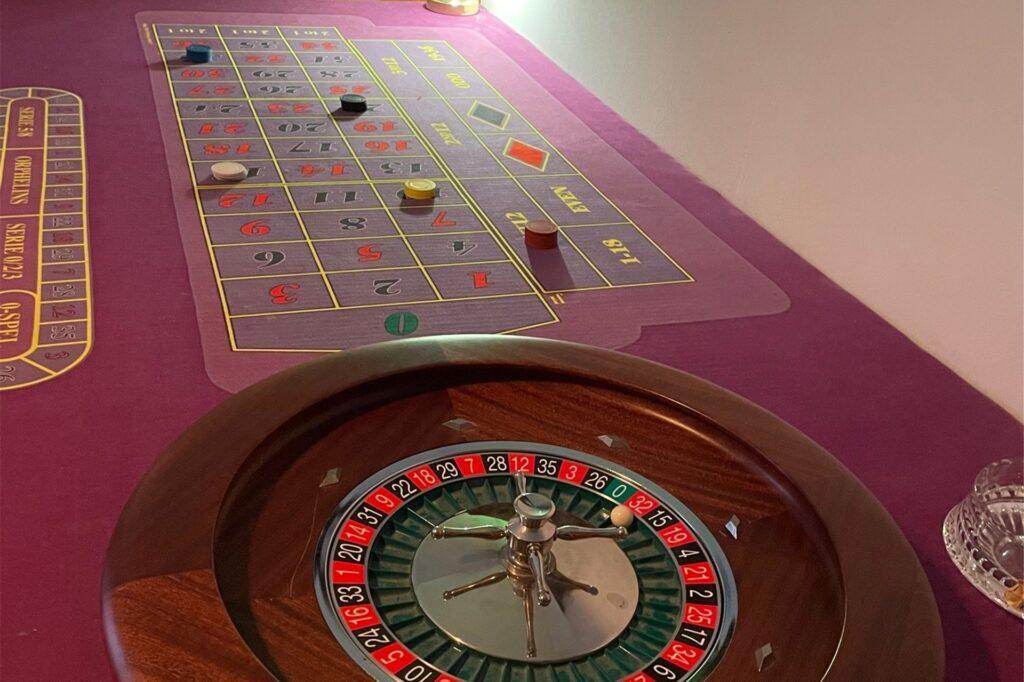 Der Roulette-Tisch im Escaperoom