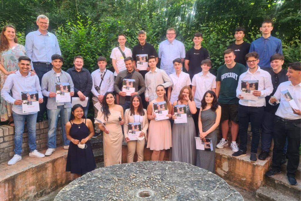 Die Abschlussklasse 10b der Martin-Luther-Schule.