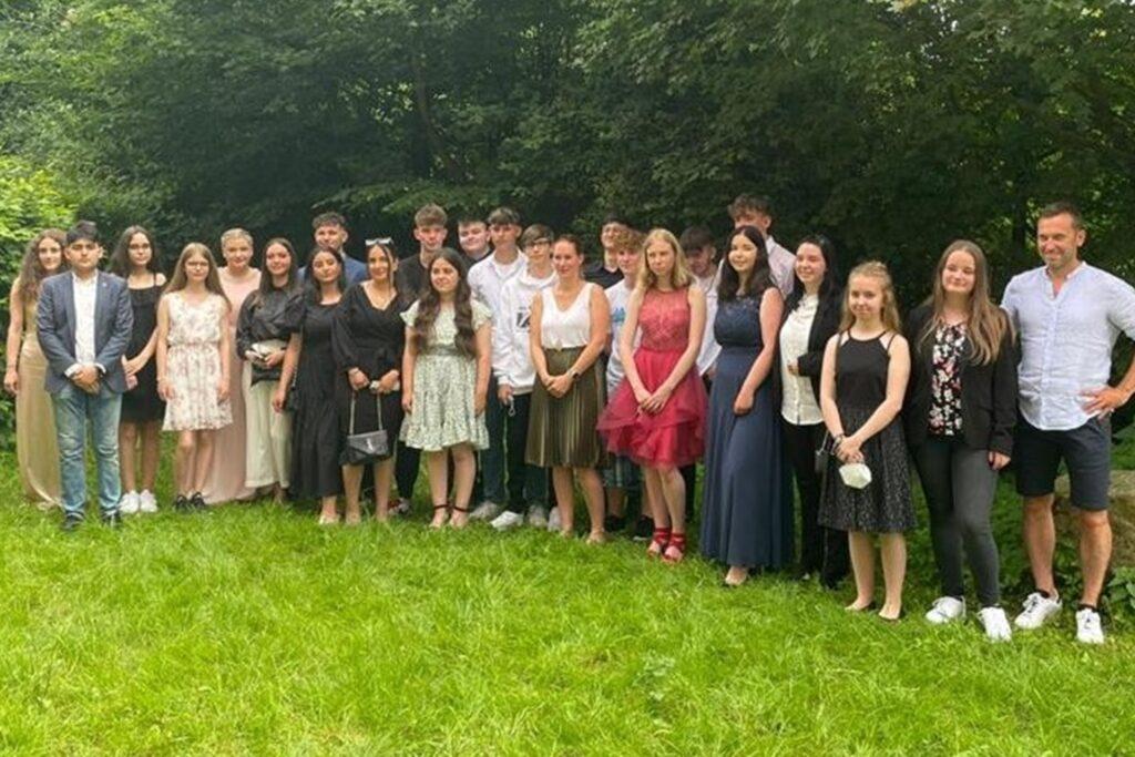 Die Abschlussklasse 10c der Martin-Luther-Schule.