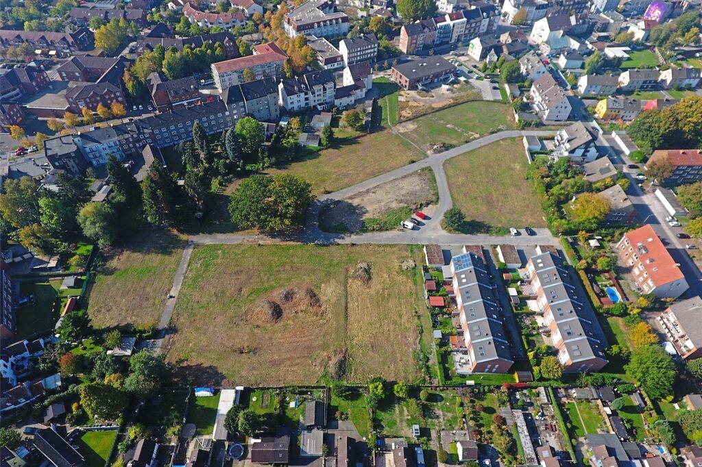 So sah das Baugebiet Schneeberger Straße im Jahr 2018 aus der Luft aus.